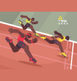 athletics competition sprint vector image