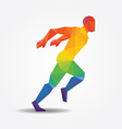 Running geometric concept design colour vector image