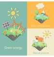 Green Energy nature products clean drinking water vector image