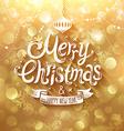 christmas golden bg vector image vector image