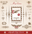 Christmas and new year set of calligraphic Vector Image