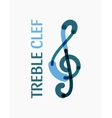 Modern logo in the shape of a treble clef vector image