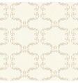 Beige vintage floral seamless pattern vector image