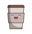 kawaii coffee icon vector image