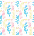 pastel seamless pattern with color branches vector image