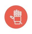 Robot hand thin line icon vector image