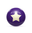 Rubber Ball with Star isoalted vector image