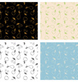 Seamless fruits pattern set vector image