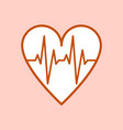 symbol of the ecg in heart vector image