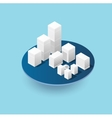 Isometric 3D city icons vector image
