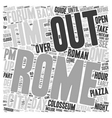 How to do Rome in 48 hours text background vector image