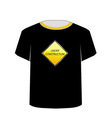 T Shirt Template- under construction vector image