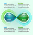 Eco water drop nature infinity loop infographic vector image