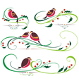Bullfinch and Christmas ornaments vector image