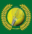 tennis and golden wreath vector image vector image
