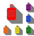 baggage sign set of red orange vector image
