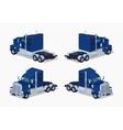 Dark-blue heavy american truck vector image
