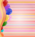 Invitation with balloons in a retro style vector image