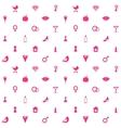 Love Symbols Seamless Pattern Background vector image