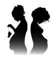 pregnant girls vector image