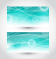 Set abstract water banners design template vector image