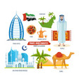 sights food drinks souvenirs and clothes vector image
