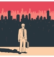 Businessman in The City vector image vector image
