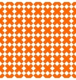Tile orange and white x cross pattern vector image