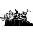 Bulldozing Money vector image