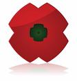 Poppy icon vector image vector image