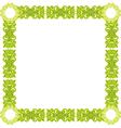 green pattern frame vector image vector image