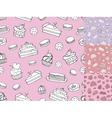 Doodle bakeryCakes seamless patternVintage vector image
