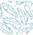 bird feathers seamless pattern vector image