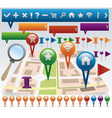 Navigation elements vector image vector image