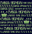 cyber monday theme seamless background abstract vector image