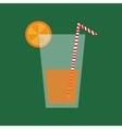 Delicious orange juice vector image
