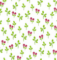 Floral pattern with cranberries vector image