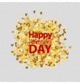 Golden glitter love heart vector image