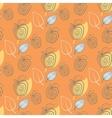 Seamless pattern with appleAppleyeelowleaf vector image