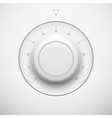 White Technology Volume Button with Scale vector image