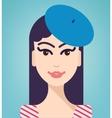 woman elegant portrait vector image
