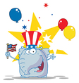 Elephant Wearing A Patriotic Hat vector image