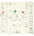 Big Set of Decorative Hand Drawn Design vector image