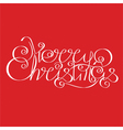 Merry Christmas calligraphic Lettering design card vector image vector image