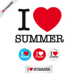 i love summer vector image vector image
