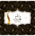 coffee background with ribbon vector image