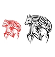 Tribal horse tattoo vector image vector image
