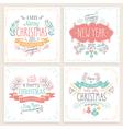 christmas handdrawn emblems vector image