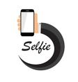 Flat Selfie Icon vector image vector image