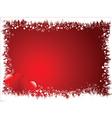 grunge heart border vector image